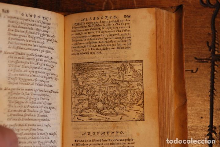 Libros antiguos: ORLANDO FURIOSO - M. LUDOVICO ARIOSTO - IN LYONE - APRESSO GUGLIEL - 1570 - PERGAMINO - GRABADOS - - Foto 7 - 152814850
