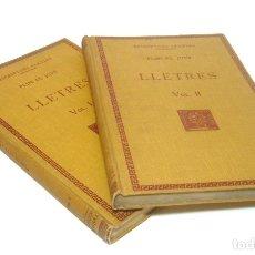 Libros antiguos: 1927 - PLINI EL JOVE: LLETRES - EPÍSTOLAS DE PLINIO EL JOVEN EN CATALÁN - 2 TOMOS - F. BERNAT METGE. Lote 153315626
