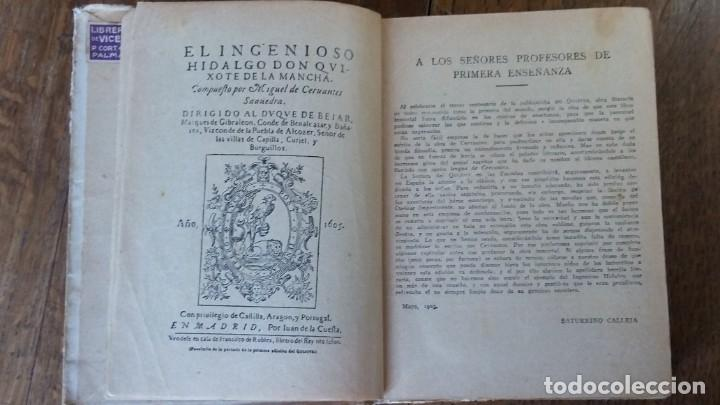 Libros antiguos: Don Quijote de la Mancha. Editorial Saturnino Calleja. Madrid, 1905 - Foto 4 - 153443658