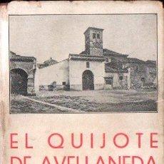 Libros antiguos: AVELLANEDA : DON QUIJOTE DE LA MANCHA (BERGUA, 1934) TAPA DURA. Lote 153452518