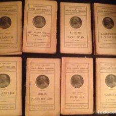 Libros antiguos: OBRES COMPLETES DE MOSSEN JACINTO VERDAGUER. - EDITTORIAL ILUSTRACIO CATALANA - 12 TOMOS - 1910-20. Lote 153993734