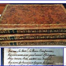 Libros antiguos: AÑO 1788: FLORIÁN: LA GALATEA DE CERVANTES Y OTRAS OBRAS. 3 BELLOS TOMOS, PÁGINAS MANUSCRITAS.. Lote 154044022