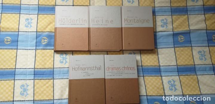 HIPERIÓN DE HÖLDERLIN, CUADROS DE VIAJE DE HEINE, ENSAYOS DE MONTAIGNE, TEATRO DE HOFFMANSTAL GREDOS (Libros antiguos (hasta 1936), raros y curiosos - Literatura - Narrativa - Clásicos)
