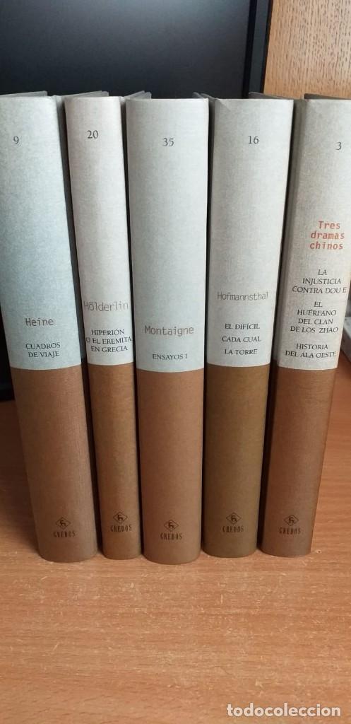 Libros antiguos: Hiperión de Hölderlin, Cuadros de viaje de Heine, Ensayos de Montaigne, teatro de Hoffmanstal Gredos - Foto 2 - 154130254