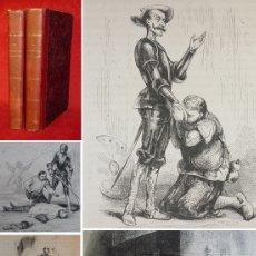 Libros antiguos: AÑO 1840 - 27 CM - DON QUIJOTE DE LA MANCHA - COMPLETO - 800 GRABADOS - ILUSTRADO POR TONY JOHANNOT. Lote 154217622