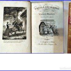 Libros antiguos: ESCUELA DE BUENAS COSTUMBRES. BONITO LIBRO. SIGLO XIX? EXCELENTEMENTE CONSERVADO.. Lote 154355126