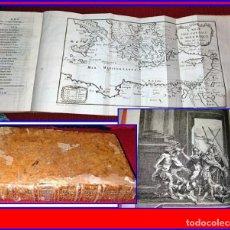 Libros antiguos: AÑO 1786: LAS AVENTURAS DE TELÉMACO. CON NUMEROSAS ILUSTRACIONES Y MAPA DESPLEGABLE.. Lote 154557974