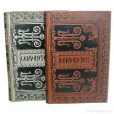 Libros antiguos: 1886 - CERVANTES: NOVELAS EJEMPLARES - OBRA COMPLETA EN 2 TOMOS EN TELA MODERNISTA DE VILLASECA. Lote 154683354