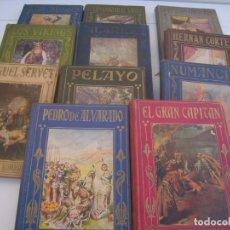 Libros antiguos: LOTEDE 11 ARALUCE LOS GRANDES HOMBRES Y PAGINAS BRILLANTES. Lote 155089522