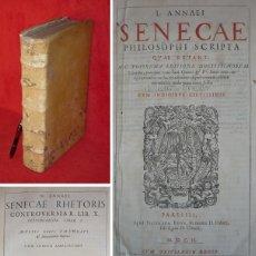 Libros antiguos: AÑO 1602 - 37CM - SENECA, OBRAS COMPLETAS - FOLIO - GRABADOS - EJEMPLAR MONUMENTAL -SOLO 1 EN ESPAÑA. Lote 155187922