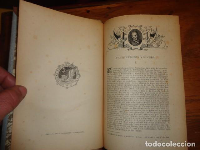 PICARESCA ESPAÑOLA - VIDA DEL ESCUDERO MARCOS DE OBREGÓN - HOLANDESA PIEL (Libros antiguos (hasta 1936), raros y curiosos - Literatura - Narrativa - Clásicos)