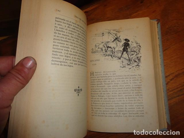 Libros antiguos: Picaresca Española - Vida del Escudero Marcos de Obregón - Holandesa Piel - Foto 7 - 155249582