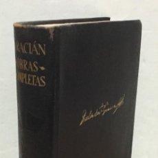 Libros antiguos: BALTASAR GRACIÁN. OBRAS COMPLETAS. AGUILAR, 1960. 1319 PÁGINAS.. Lote 155914832
