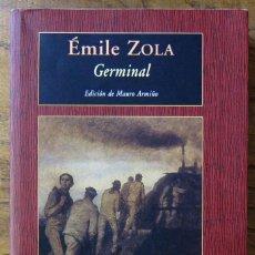 Libros antiguos: EMILE ZOLA - GERMINAL - VALDEMAR, LETRAS CLÁSICAS, 2004 - MAURO ARMIÑO. Lote 155955042