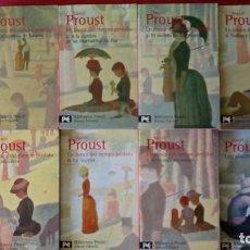 Libros antiguos: MARCEL PROUST - EN BUSCA DEL TIEMPO PERDIDO - ALIANZA EDITORIAL OBRA COMPLETA + LOS PLACERES Y DÍAS. Lote 155990422