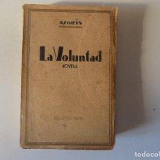 Libros antiguos: LIBRERIA GHOTICA. AZORÍN. LA VOLUNTAD. 1920. BIBLIOTECA NUEVA.MADRID.. Lote 157129662