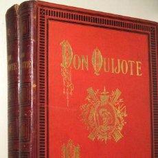 Libros antiguos: CERVANTES, MIGUEL DE - EL INGENIOSO HIDALGO DON QUIXOTE DE LA MANCHA (2 VOL. - COMPLETO) - BARCELONA. Lote 157687566