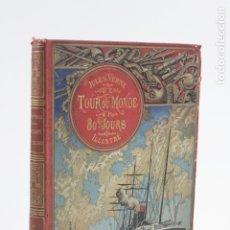 Libros antiguos: LE TOUR DU MONDE EN QUATRE-VINGTS JOURS, JULES VERNES, BIBLIOTHÈQUE D'ÉDUCATION ET RÉCRÉATION, PARIS. Lote 159200582
