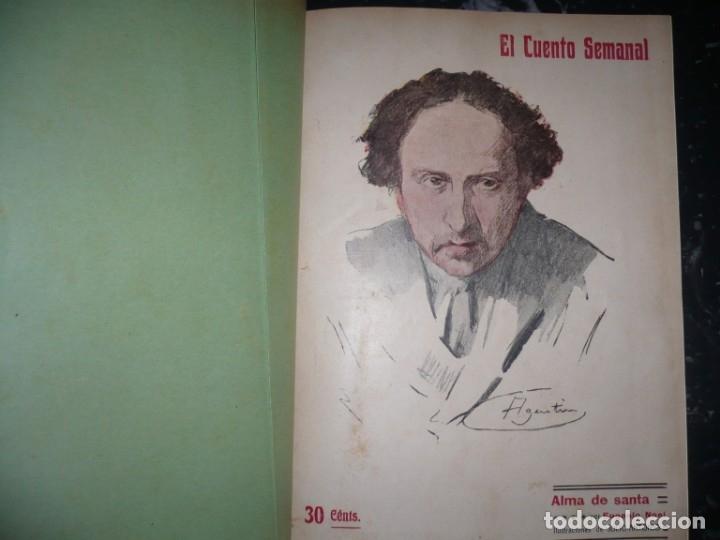 Libros antiguos: EL CUENTO SEMANAL AÑO III DESDE EL Nº 131 AL 157 AÑO 1909 MADRID - Foto 2 - 159588770