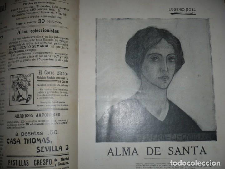 Libros antiguos: EL CUENTO SEMANAL AÑO III DESDE EL Nº 131 AL 157 AÑO 1909 MADRID - Foto 4 - 159588770