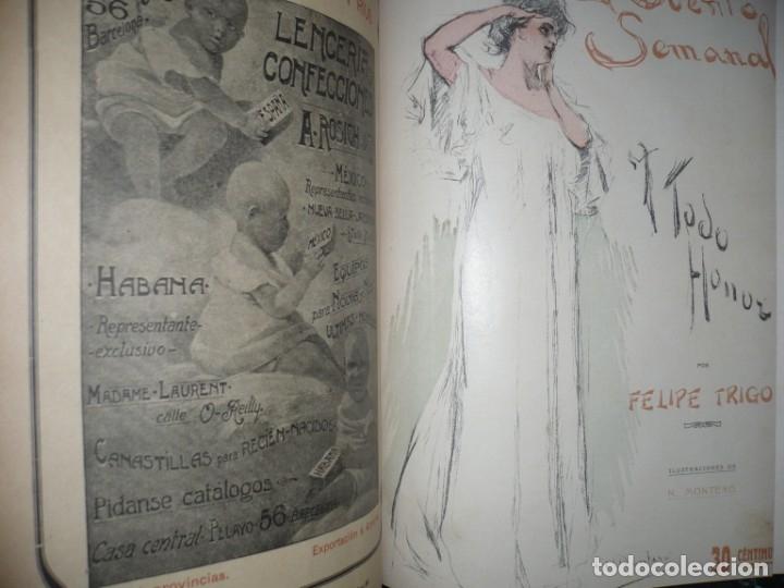 Libros antiguos: EL CUENTO SEMANAL AÑO III DESDE EL Nº 131 AL 157 AÑO 1909 MADRID - Foto 8 - 159588770