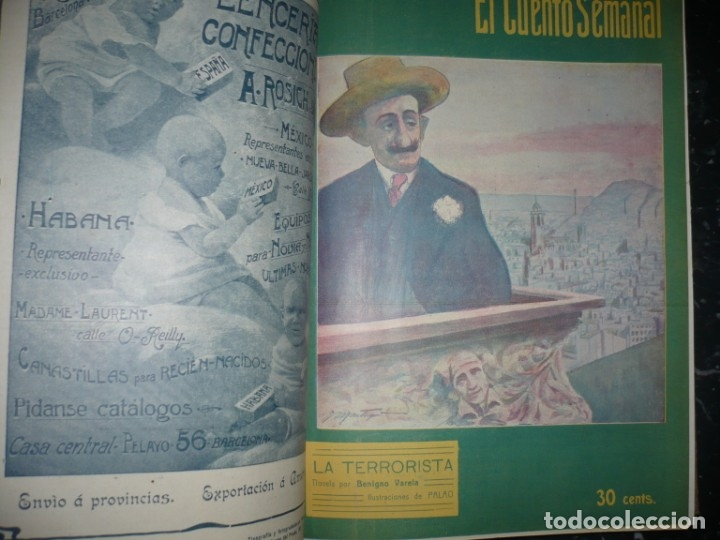 Libros antiguos: EL CUENTO SEMANAL AÑO III DESDE EL Nº 131 AL 157 AÑO 1909 MADRID - Foto 6 - 159588770