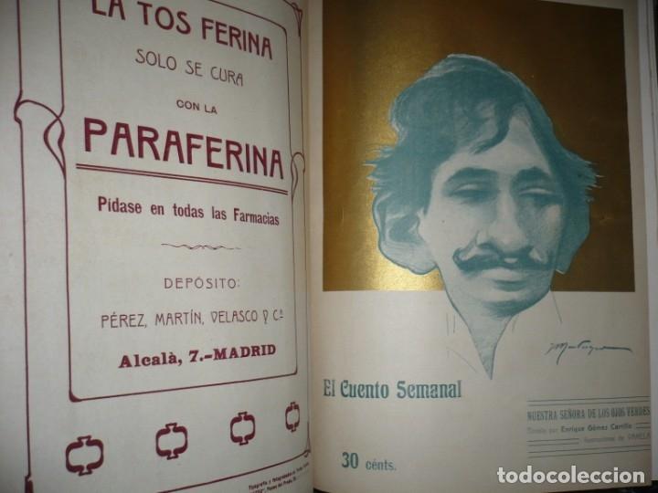 Libros antiguos: EL CUENTO SEMANAL AÑO III DESDE EL Nº 131 AL 157 AÑO 1909 MADRID - Foto 9 - 159588770