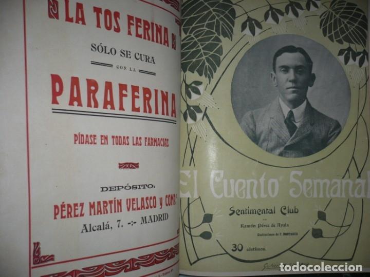 Libros antiguos: EL CUENTO SEMANAL AÑO III DESDE EL Nº 131 AL 157 AÑO 1909 MADRID - Foto 7 - 159588770