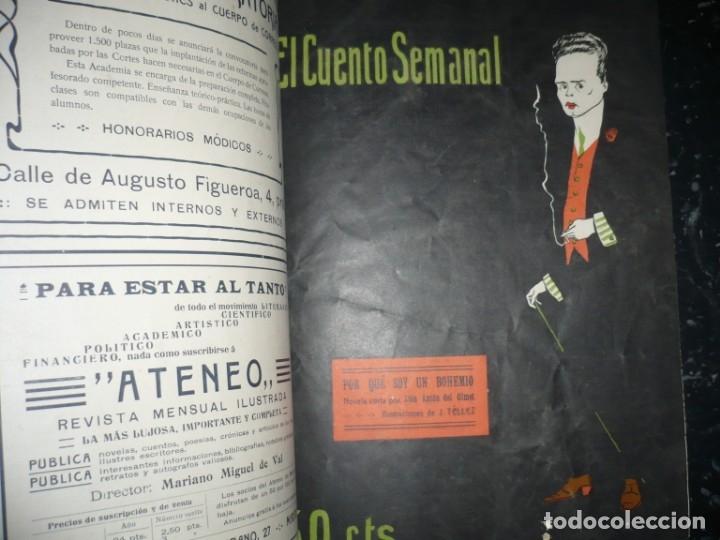 Libros antiguos: EL CUENTO SEMANAL AÑO III DESDE EL Nº 131 AL 157 AÑO 1909 MADRID - Foto 5 - 159588770