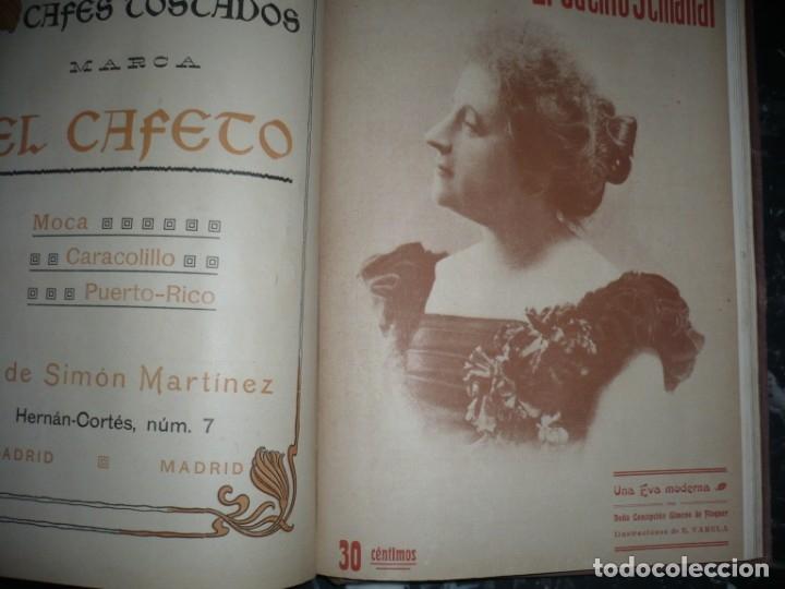 Libros antiguos: EL CUENTO SEMANAL AÑO III DESDE EL Nº 131 AL 157 AÑO 1909 MADRID - Foto 11 - 159588770