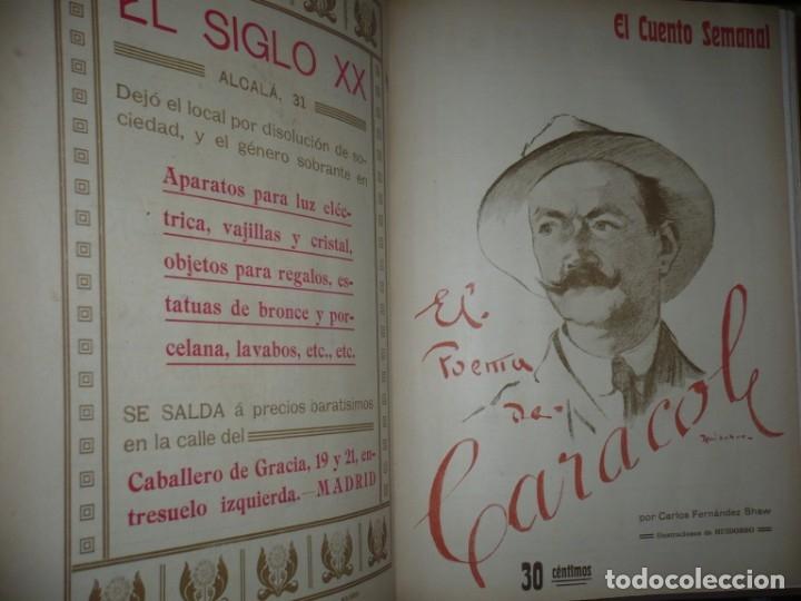 Libros antiguos: EL CUENTO SEMANAL AÑO III DESDE EL Nº 131 AL 157 AÑO 1909 MADRID - Foto 10 - 159588770