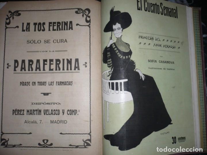 Libros antiguos: EL CUENTO SEMANAL AÑO III DESDE EL Nº 131 AL 157 AÑO 1909 MADRID - Foto 12 - 159588770
