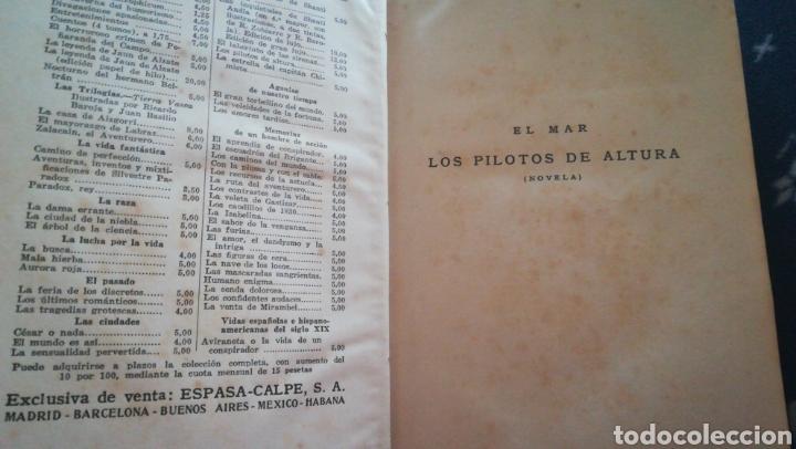 Libros antiguos: Los pilotos de altura y la estrella del capitán chimista. Pio baroja. El mar. 1931 - Foto 3 - 159828246
