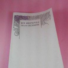 Libri antichi: LIBRO-EN DEFENSA DE LOS OCIOSOS-ROBERT LOUIS STEVENSON-GREAT IDEAS-TAURUS-2014. Lote 160194294