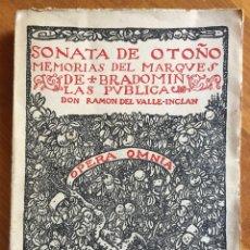 Libros antiguos: VALLE INCLAN : MEMORIAS DEL MARQUÉS DE BRADOMIN - SONATA DE OTOÑO (RIVADENEYRA, 1924). Lote 160243018