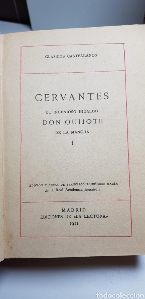 Libros antiguos: DON QUIJOTE DE LA MANCHA, 8 tomos completa 1911 - Foto 2 - 160250674