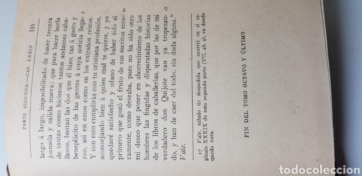 Libros antiguos: DON QUIJOTE DE LA MANCHA, 8 tomos completa 1911 - Foto 7 - 160250674