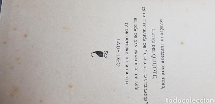 Libros antiguos: DON QUIJOTE DE LA MANCHA, 8 tomos completa 1911 - Foto 6 - 160250674