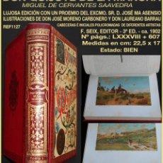 Libros antiguos: PCBROS - DON QUIJOTE DE LA MANCHA - MIGUEL CERVANTES S. - ED. 3ª - F. SEIX EDITOR - CIRCA 1902. Lote 160752010