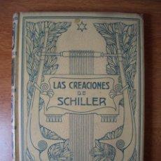 Libros antiguos: LAS CREACIONES DE SCHILLER - ENRIQUE MASAGUER - MONTANER Y SIMON EDITORES - 1913. Lote 161481410