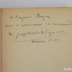 Libros antiguos: VIDA PRIVADA, JOSEP MARIA DE SAGARRA, 1932, LLIBRERIA CATALONIA, FIRMADO Y DEDICADO A JOAQUIM RUYRA.. Lote 161652066