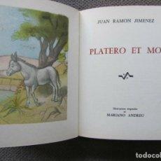 Libros antiguos: PLATERO Y YO DEL PREMIO NOBEL JUAN RAMON JIMENEZ CON FRONTAL DE PICASSO Y 16 DIBUJOS MARIANO ANDREU. Lote 161805022