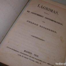 Libros antiguos: LIBRO TAPAS PIEL...POR FENAN CABALLERO.....LAGRIMAS...AÑO. 1858.. Lote 162472374