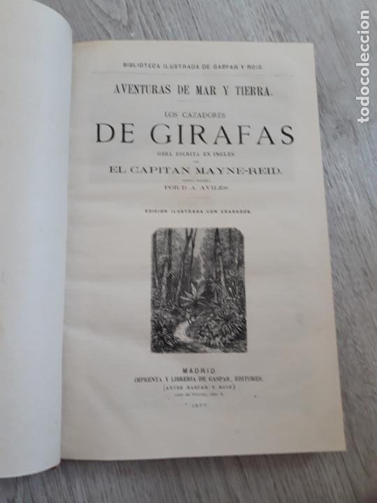Libros antiguos: Maine -Reid. Aventuras de mar y tierra, tres títulos encuadernados.1877 - Foto 2 - 162760914