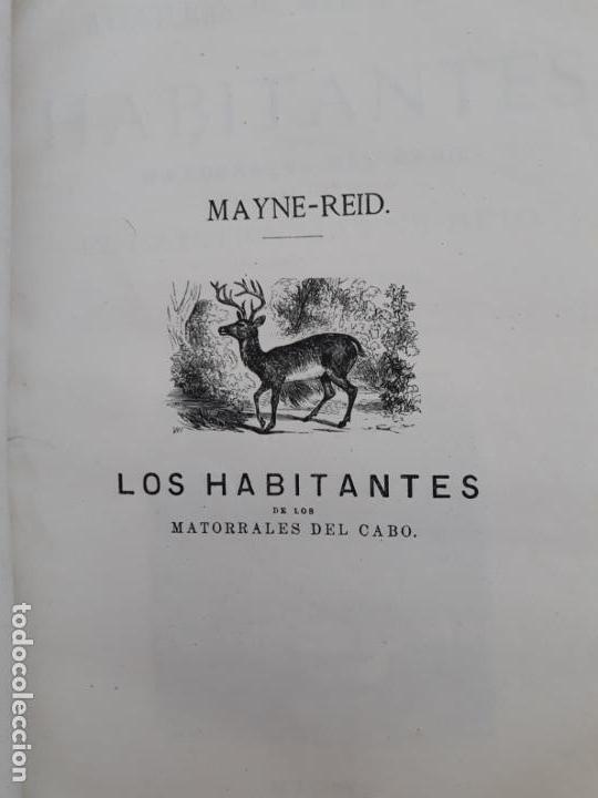 Libros antiguos: Maine -Reid. Aventuras de mar y tierra, tres títulos encuadernados.1877 - Foto 3 - 162760914