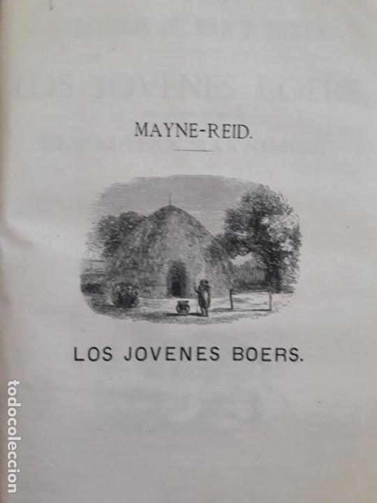 Libros antiguos: Maine -Reid. Aventuras de mar y tierra, tres títulos encuadernados.1877 - Foto 4 - 162760914