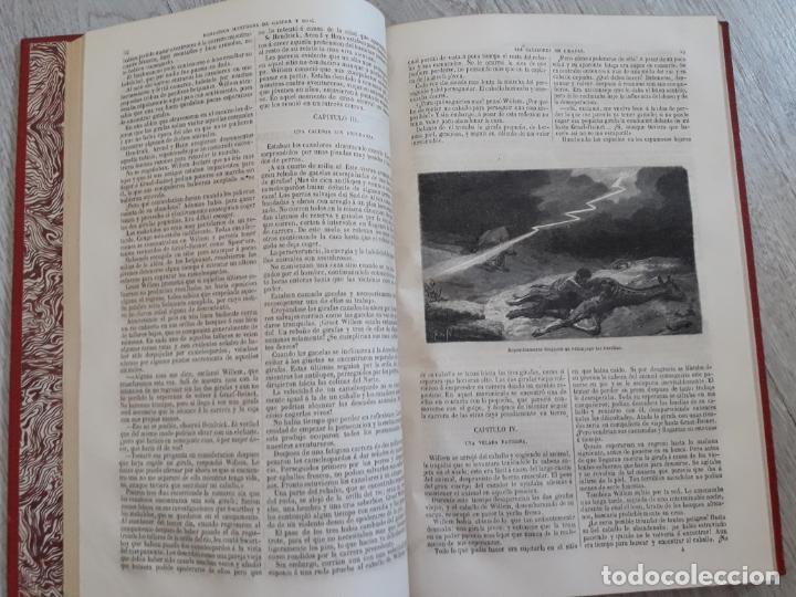 Libros antiguos: Maine -Reid. Aventuras de mar y tierra, tres títulos encuadernados.1877 - Foto 5 - 162760914