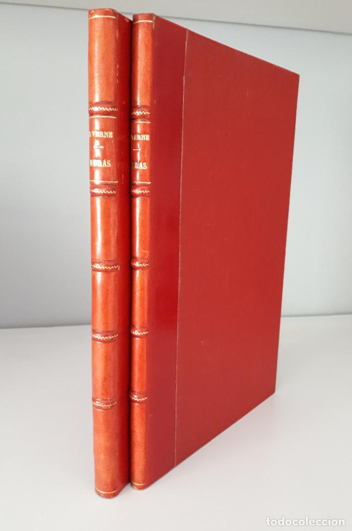 JULIO VERNE - OBRAS 1885 2 VOLS, CONTIENEN SEIS TÍTULOS (Libros antiguos (hasta 1936), raros y curiosos - Literatura - Narrativa - Clásicos)