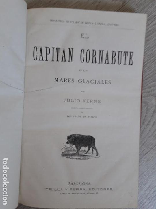 Libros antiguos: Julio Verne - Obras 1885 2 Vols, contienen seis títulos - Foto 2 - 162762938