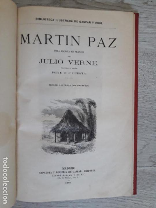 Libros antiguos: Julio Verne - Obras 1885 2 Vols, contienen seis títulos - Foto 3 - 162762938